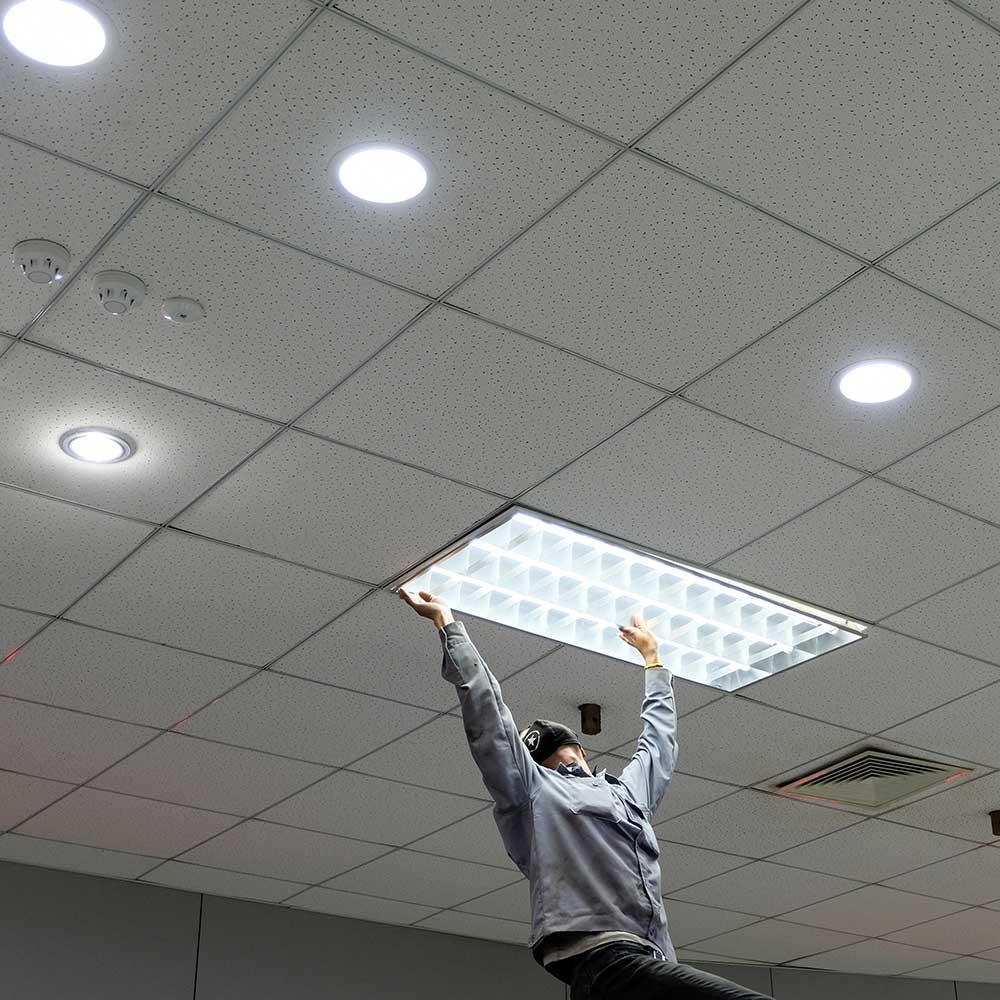 office light installation